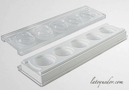 Moule silicone 3D 5 sphères 58 mm