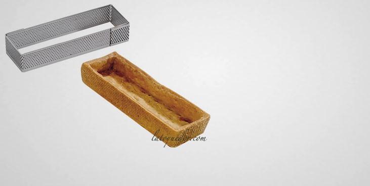 Rectangle à tarte inox perforé