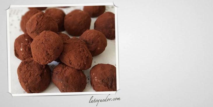 Truffes chocolat aux éclats d'amandes caramélisés