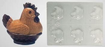Moule à chocolat poule couveuse