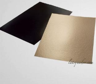 Support à gâteau carton rectangle or 40x30 cm (x25)