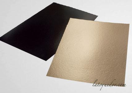 Support à gâteau carton rectangle or 60x40 cm (x25)