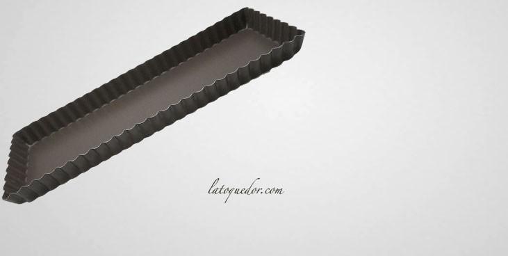 Moule à tarte rectangle fond amovible anti-adhésif