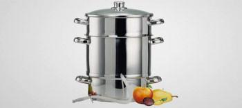 Extracteur de jus à vapeur inox