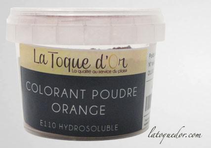 Colorant poudre orange hydrosoluble