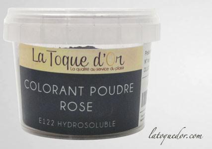 Colorant poudre rose hydrosoluble
