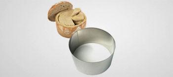 Cercle à pain surprise inox H 9 cm