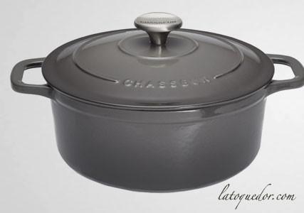 Cocotte en fonte ronde caviar - Sublime Chasseur