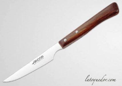 Couteau à steak Arcos manche bois lame lisse