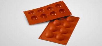 Moule silicone 8 demi-sphères Silicon Flex - 50 mm