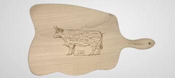 """Planche à découper bois """"Le Bœuf"""""""