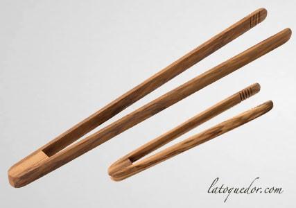 Pince à toast bois bambou