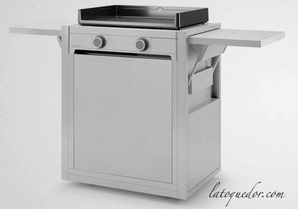 Chariot inox fermé plancha Modern Forge Adour