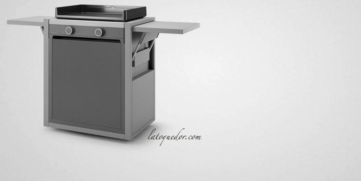 Chariot acier fermé plancha Modern Forge Adour