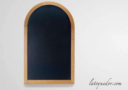 Ardoise murale semi circulaire cadre bois