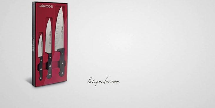 Coffret 3 couteaux de cuisine universal arcos couteaux universal arcos la toque d 39 or - Coffret couteaux de cuisine ...