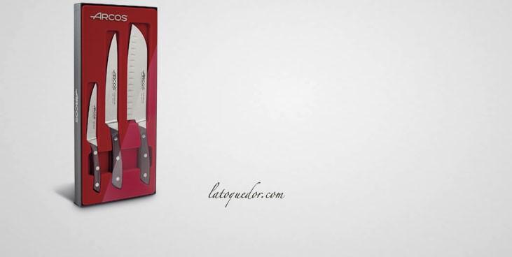 Coffret 3 couteaux de cuisine Natura Arcos