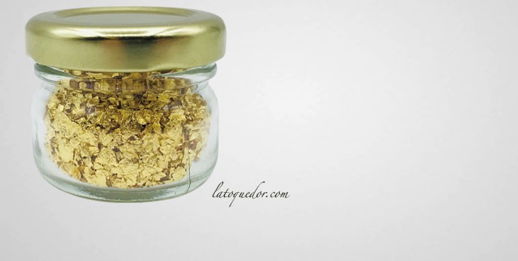 Paillettes d'or alimentaire 200 mg