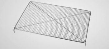 Volette à pâtisserie rectangle inox 30,5 x 22 cm