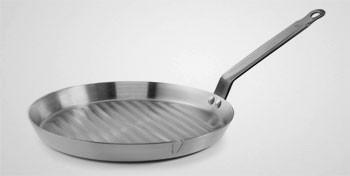 Poêle grill rôtissoire en acier
