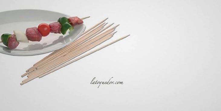 Piques brochettes bois 25 cm