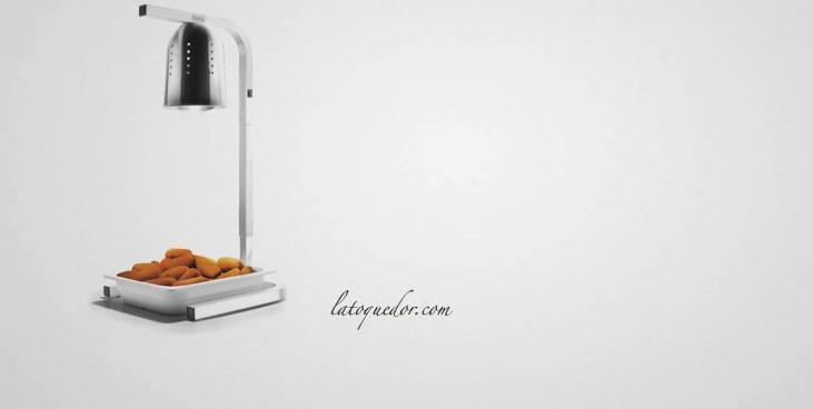 Lampe chauffante sur pied en aluminium