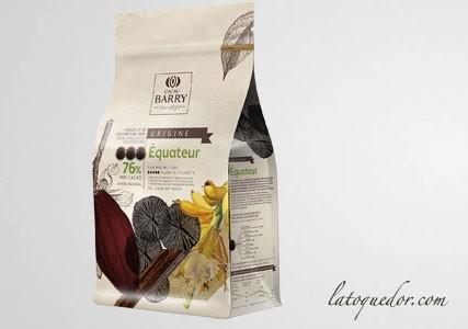 Chocolat de couverture noir Equateur 76% Cacao Barry