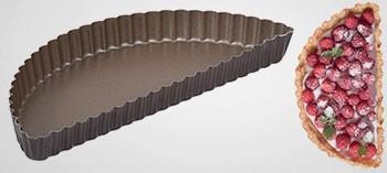 Moule demi tarte bord cannelé anti-adhésif - Gobel