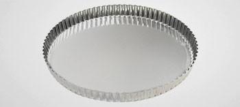Moule à tarte bord cannelé fer blanc - Gobel