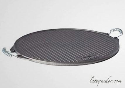 Plancha grill ronde en fonte émaillée