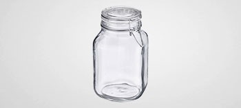 Bocal verre avec couvercle à charnière 1 L