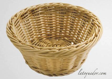 Corbeille à pain ronde en polypropylène beige