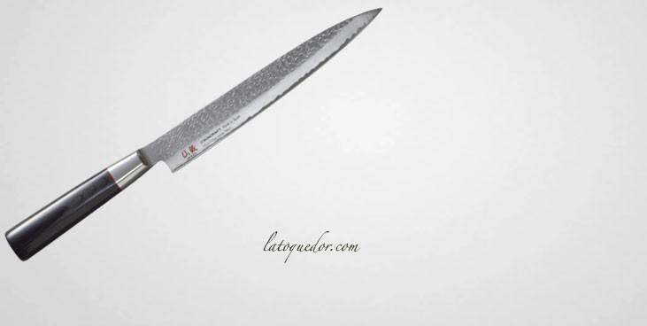 Couteau yanagiba japonais damassé Senzo Classic - Suncraft