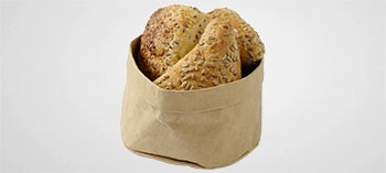 Corbeille à pain en papier kraft beige