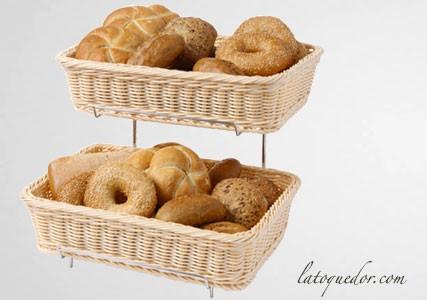 Présentoir avec corbeilles à pain GN 1/2