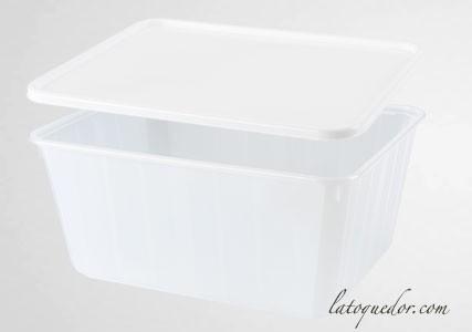 Barquette plastique opaque avec couvercle 45 cl - Cartybox