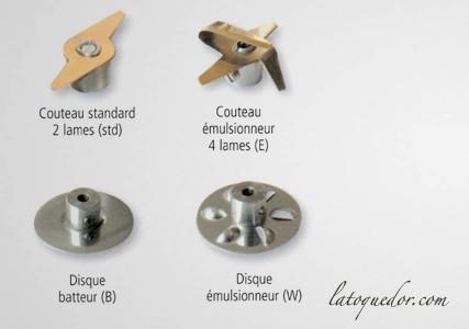 Pack couteaux pour mixeur Dynamix - Dynamic
