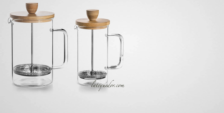 Cafetière à piston verre Wood - Lacor