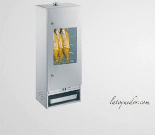 Fumoir professionnel acier aluminisé avec porte et fenêtre 100x39 cm