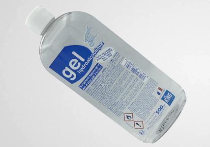 Gel hydroalcoolique avec bouchon verseur 500 ml