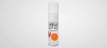 Colorant orange effet velours en spray