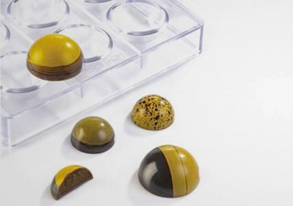 Moule à chocolat polycarbonate 32 mini demi-sphères