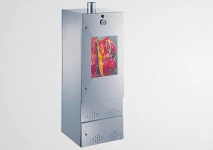 Armoire de fumage à froid acier aluminisé avec porte et fenêtre 140x50 cm