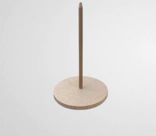 Support mini pique à gyros kebab en bois (x25)