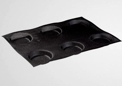 Moule silicone micro perforé 6 tartelettes 85 mm - Martellato (x2)