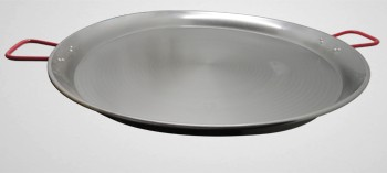 Plat à paella grande taille en tôle acier