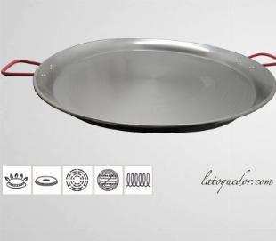 Plat à paella grand diamètre en tôle acier
