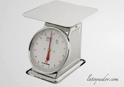 Balance de cuisine mécanique plateau plat 15 Kg