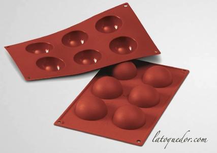 Moule silicone 6 demi sphères Silicon Flex