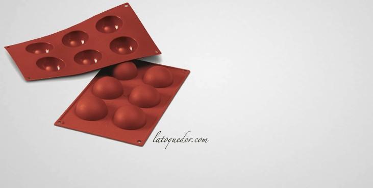 Moule silicone 6 demi sphères Silicon Flex - 60 mm